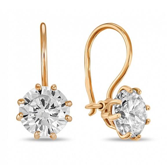 Золотые серьги с кристаллом сваровски арт. e01-c-sw-59403-z e01-c-sw-59403-z