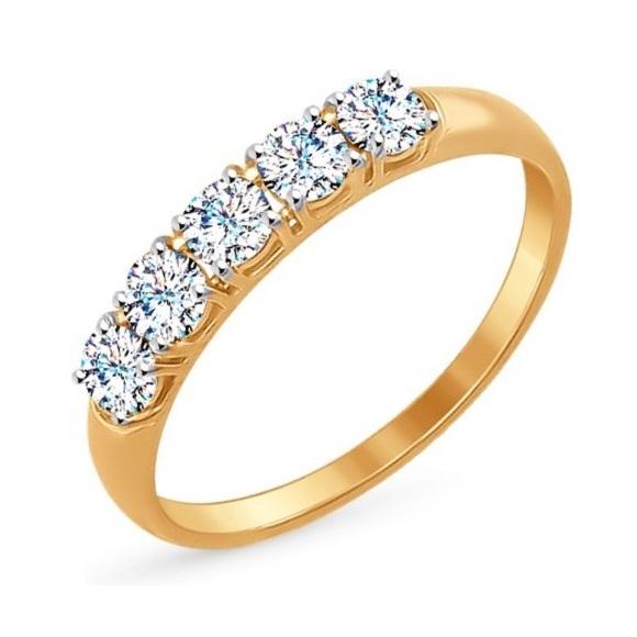 Золотое кольцо Фианит арт. r01-z-z-rms-026 r01-z-z-rms-026