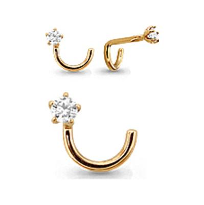 Пирсинг в нос из золота с фианитом арт. 70515а 70515а