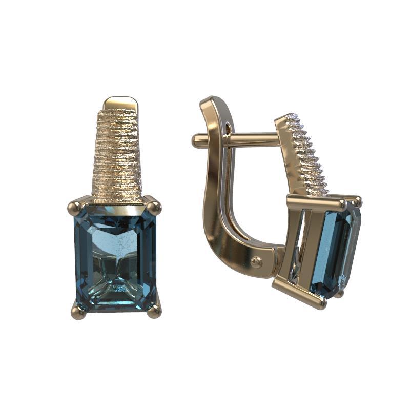 Золотые серьги с топазом арт. 1028352-11220-т 1028352-11220-т