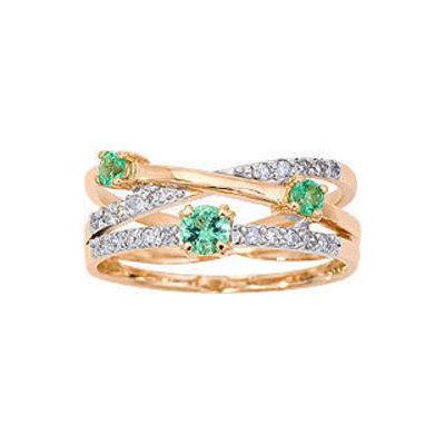 Золотое кольцо Бриллиант и Изумруд арт. 1013241-11140-и 1013241-11140-и
