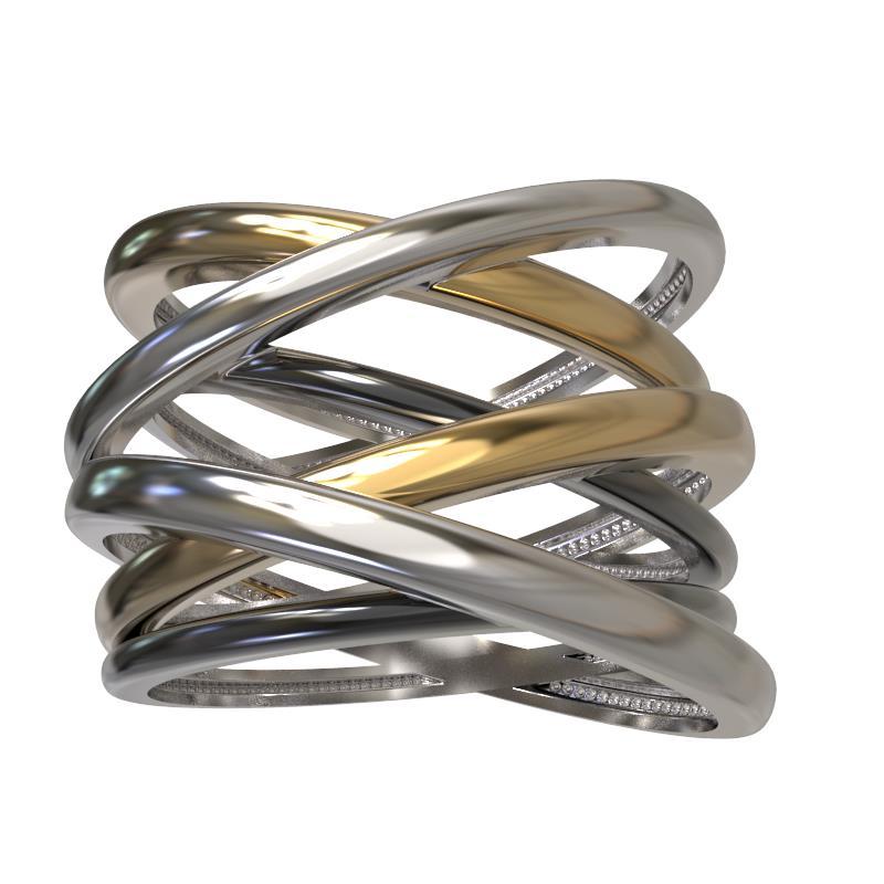 Кольцо серебряное с позолотой Без вставки арт. 1024671-60001 1024671-60001