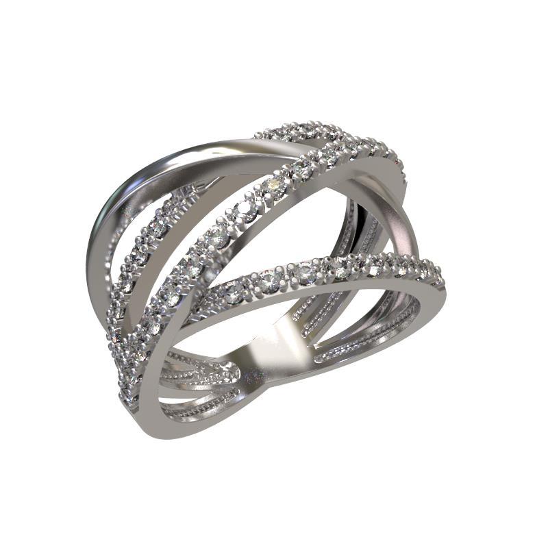 Серебряное кольцо Фианит арт. 1024701-01110 1024701-01110