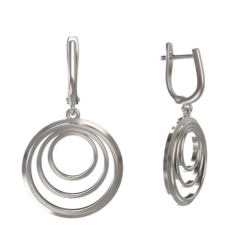 Серебряные серьги арт. 1030322-00000 1030322-00000