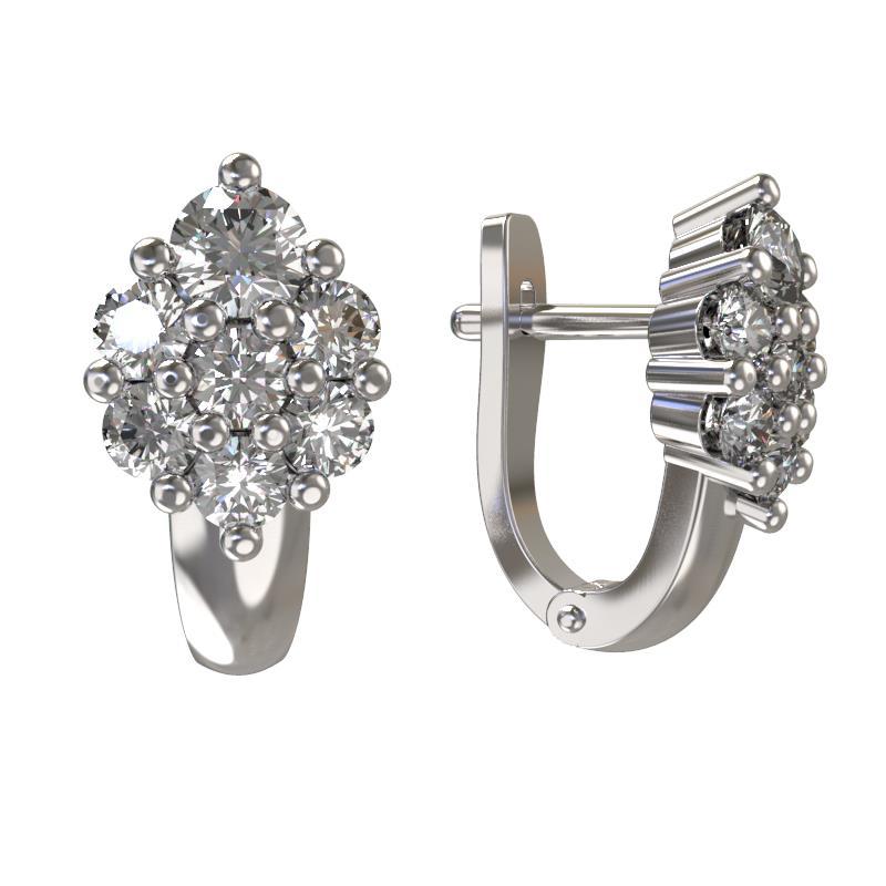 Серебряные серьги с фианитом арт. 1030332-01110 1030332-01110