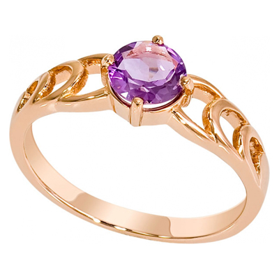 Золотое кольцо Аметист арт. 1018971-11220-а 1018971-11220-а