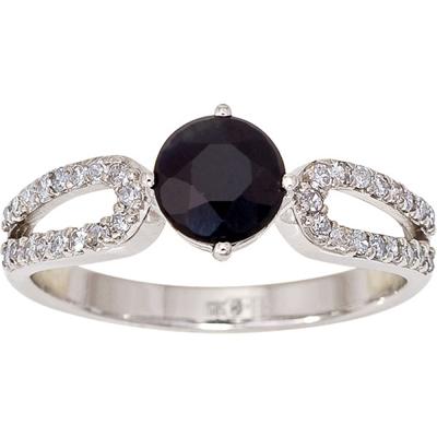 Кольцо из белого золота Бриллиант и Сапфир арт. 1015331-21140-с 1015331-21140-с