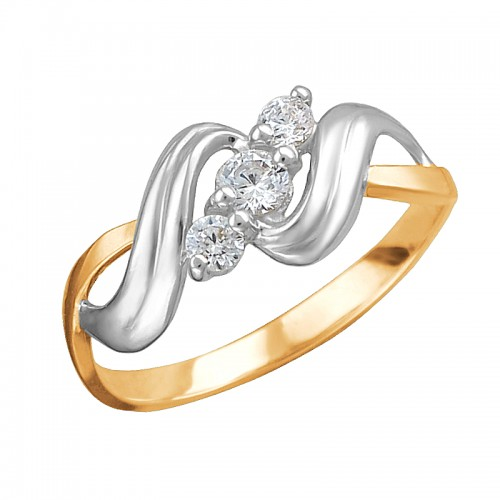 Золотое кольцо Фианит арт. 01к1112307р 01к1112307р