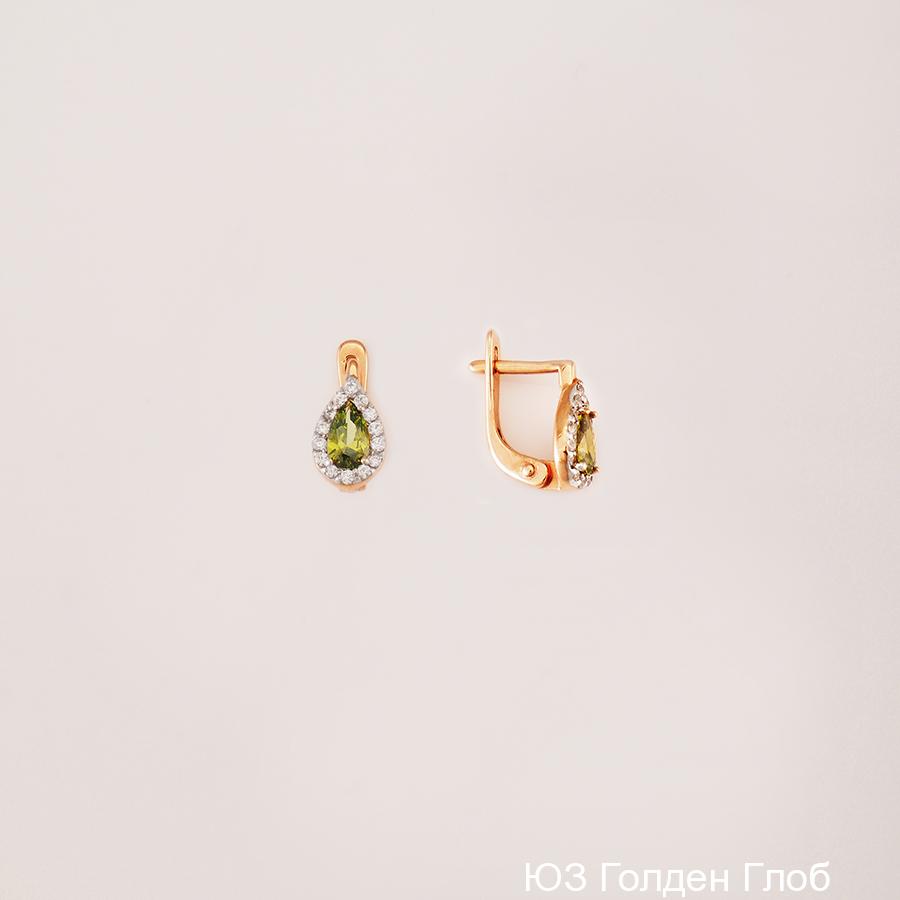 Детские серьги из золота с фианитом арт. сргл06 сргл06