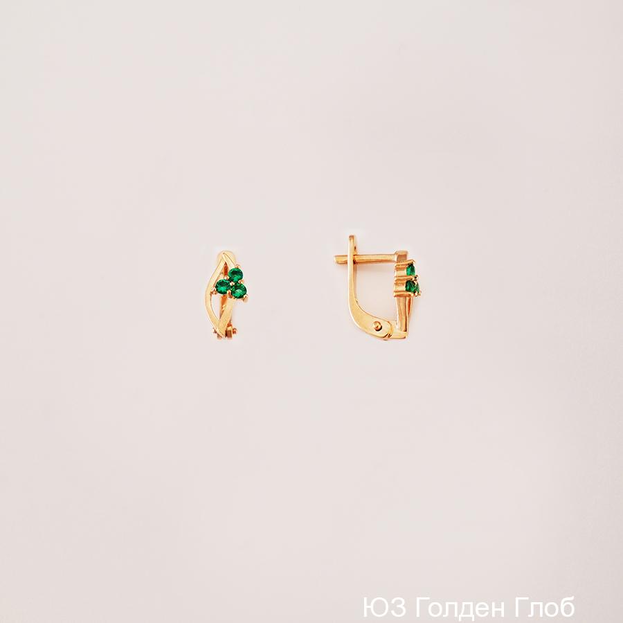 Детские серьги из золота с фианитом арт. сргл11 сргл11