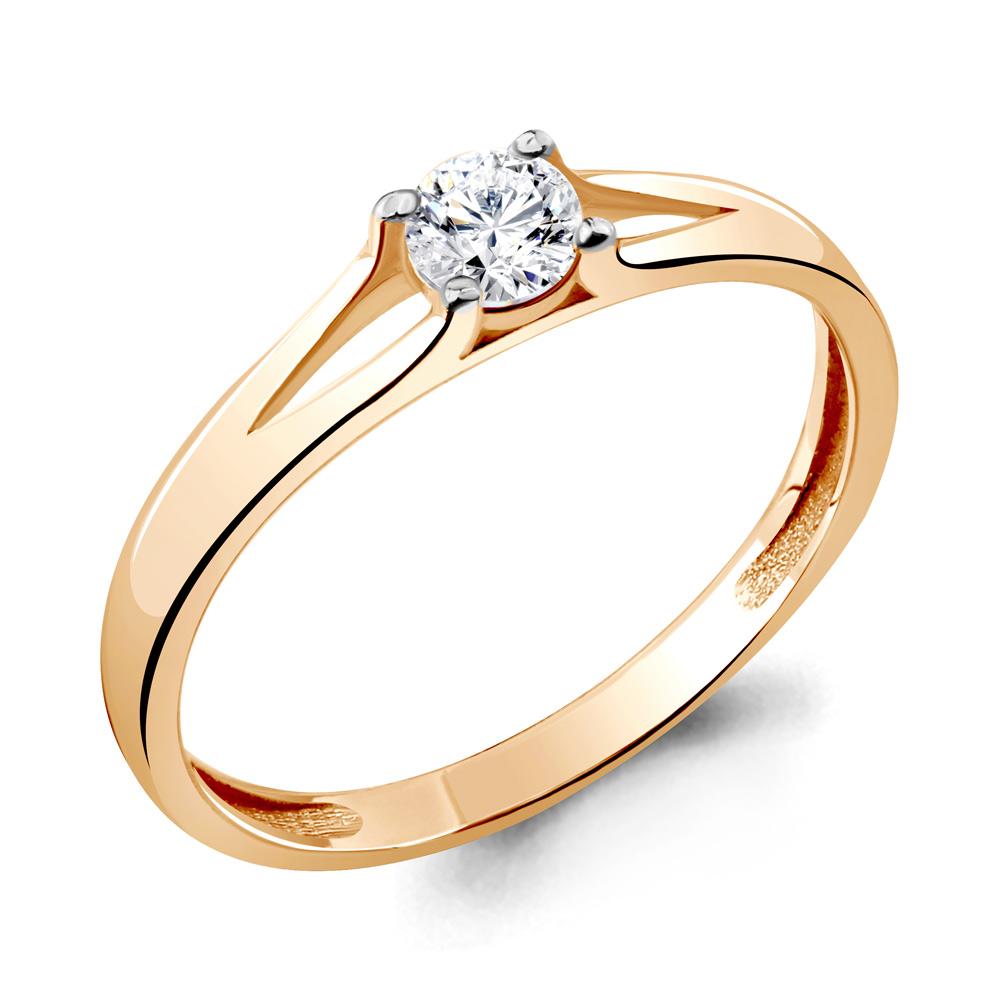 Золотое кольцо Кристалл сваровски арт. 66109 66109