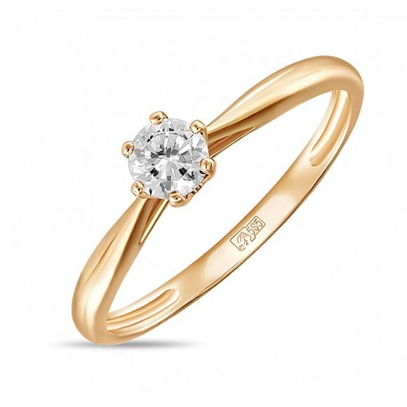 Золотое кольцо Кристалл сваровски арт. r01-c-sw-59297-z r01-c-sw-59297-z