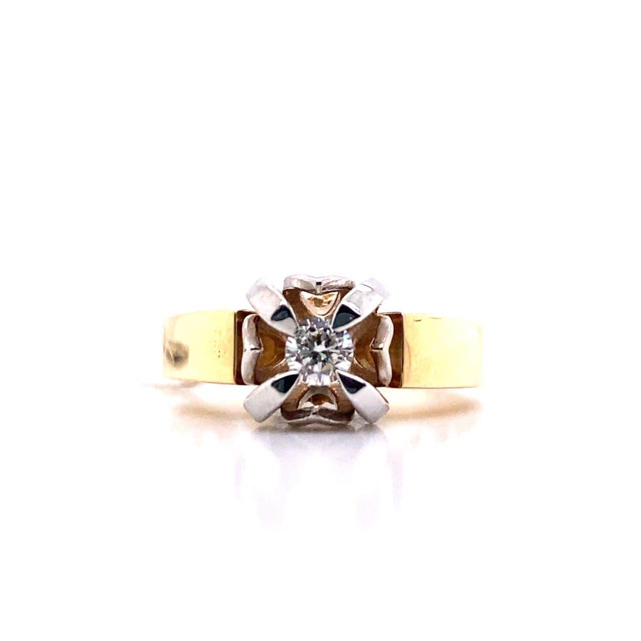 Кольцо из лимонного золота 780112