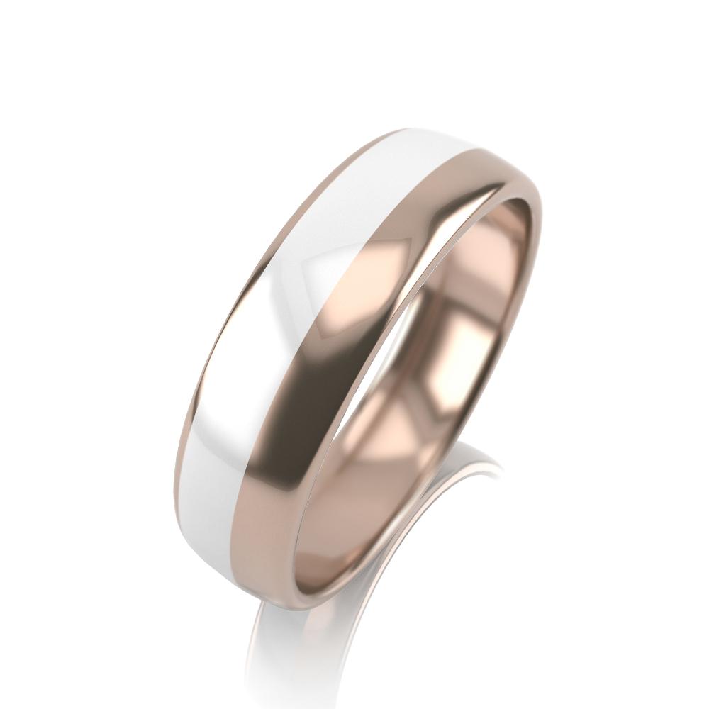Обручальное кольцо из золота с эмалью арт. 32К-КМкб 32К-КМкб