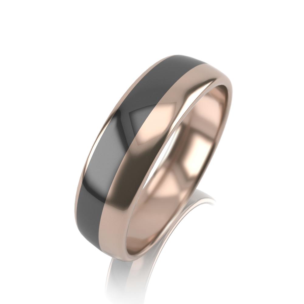 Обручальное кольцо из золота с эмалью арт. 32К-КМкч 32К-КМкч
