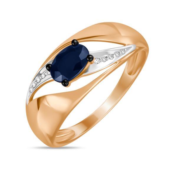 Золотое кольцо Бриллиант и Сапфир арт. r01-d-lqgc0396a-r17 r01-d-lqgc0396a-r17