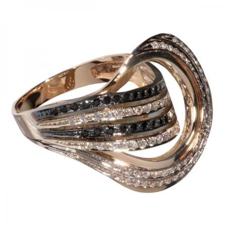 Золотое кольцо Фианит арт. к482 к482