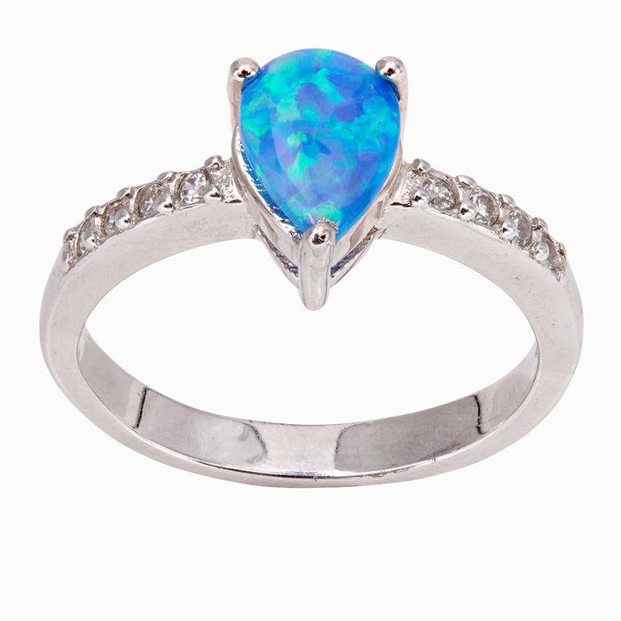 Серебряное кольцо Опал и Фианит арт. 41565 41565