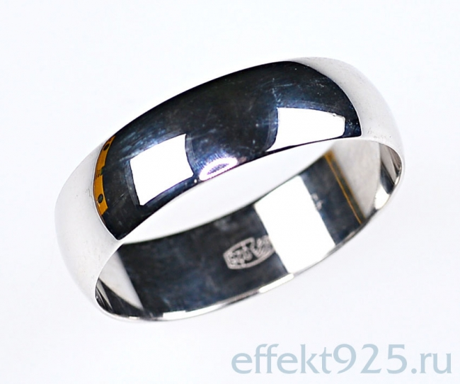 Обручальное кольцо из серебра арт. ко6-20 ко6-20