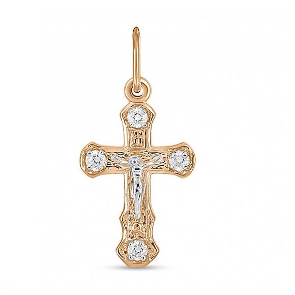 Золотой крест с фианитом арт. j01-z-59007-z j01-z-59007-z