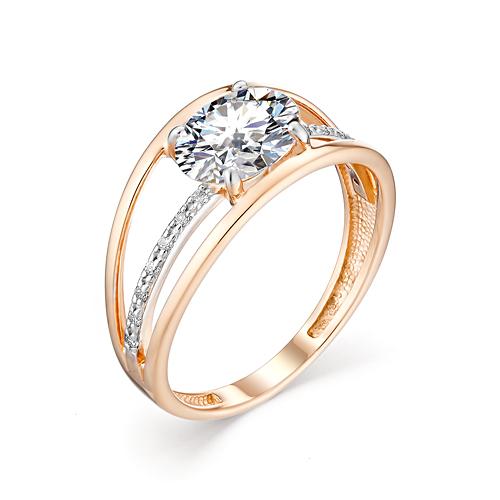 Золотое кольцо Фианит арт. 10-02-00156 10-02-00156