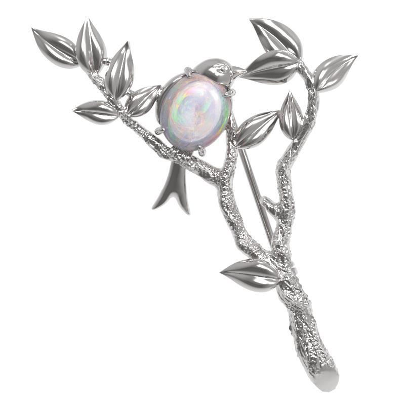 Серебряная брошь с опалом арт. 1029634-01210-о 1029634-01210-о