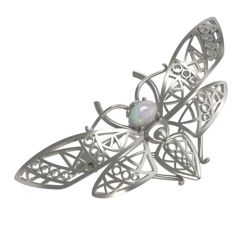 Серебряная брошь с опалом арт. 1031384-01220-о 1031384-01220-о