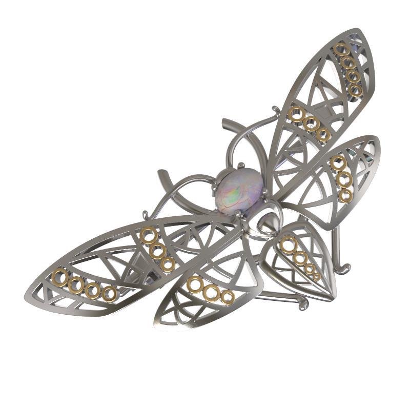 Серебряная брошь с опалом арт. 1031384-61221-о 1031384-61221-о