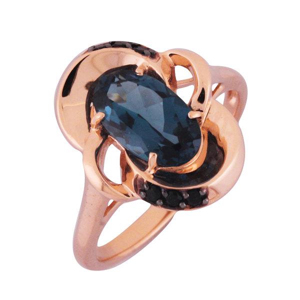 Золотое кольцо Сапфир и Фианит арт. 1181291 1181291