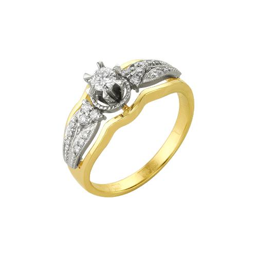 Золотое кольцо Бриллиант и Сапфир арт. 14000023 14000023