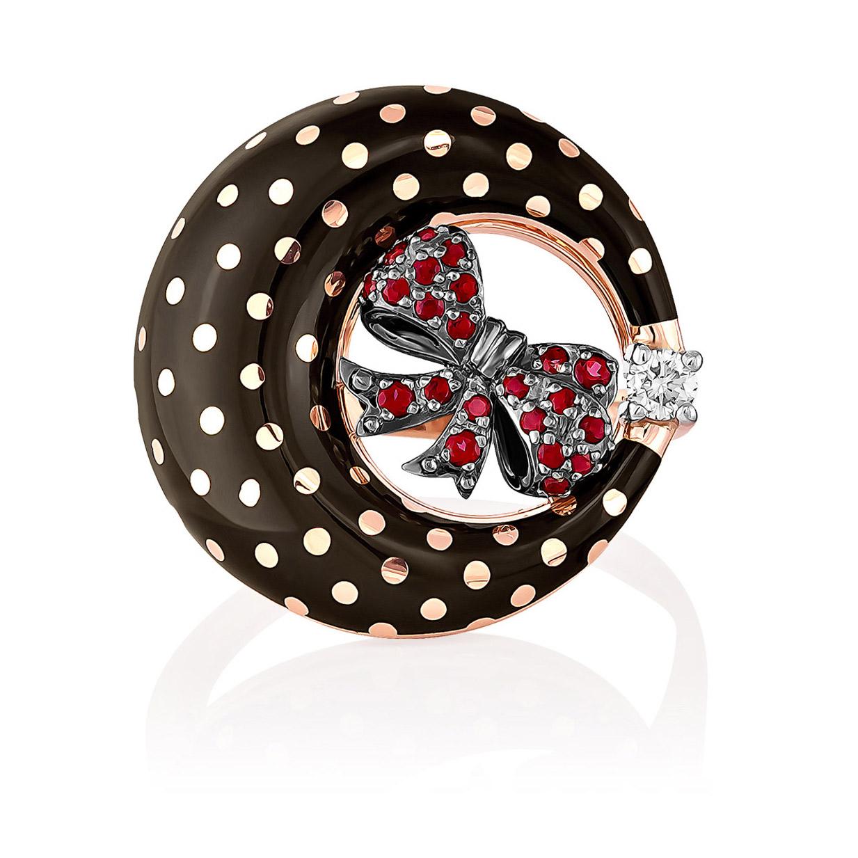 Золотое кольцо Бриллиант и Топаз арт. 11-0969-2502 11-0969-2502
