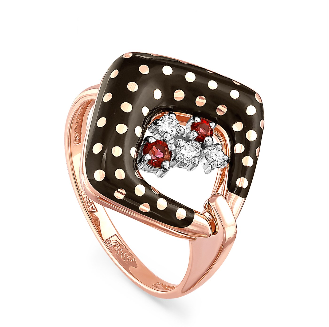 Золотое кольцо Бриллиант и Топаз арт. 11-0979-2502 11-0979-2502
