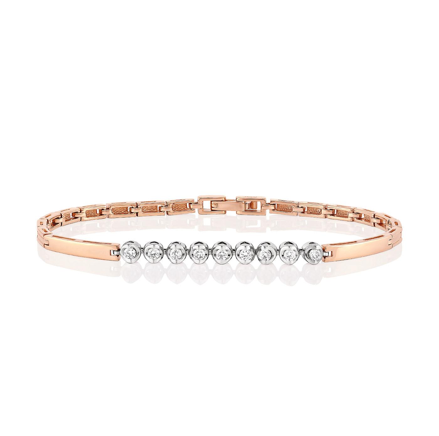 Золотой браслет с бриллиантом арт. 4-0005-1000 4-0005-1000
