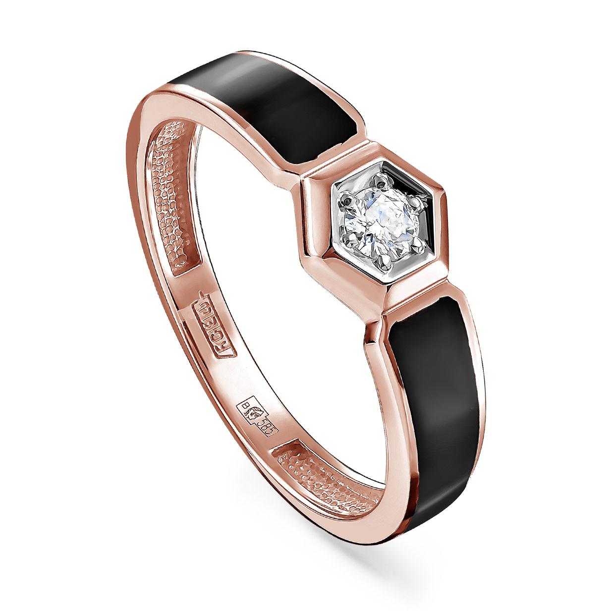 Золотое кольцо Бриллиант и Эмаль арт. 11-01243-1002 11-01243-1002