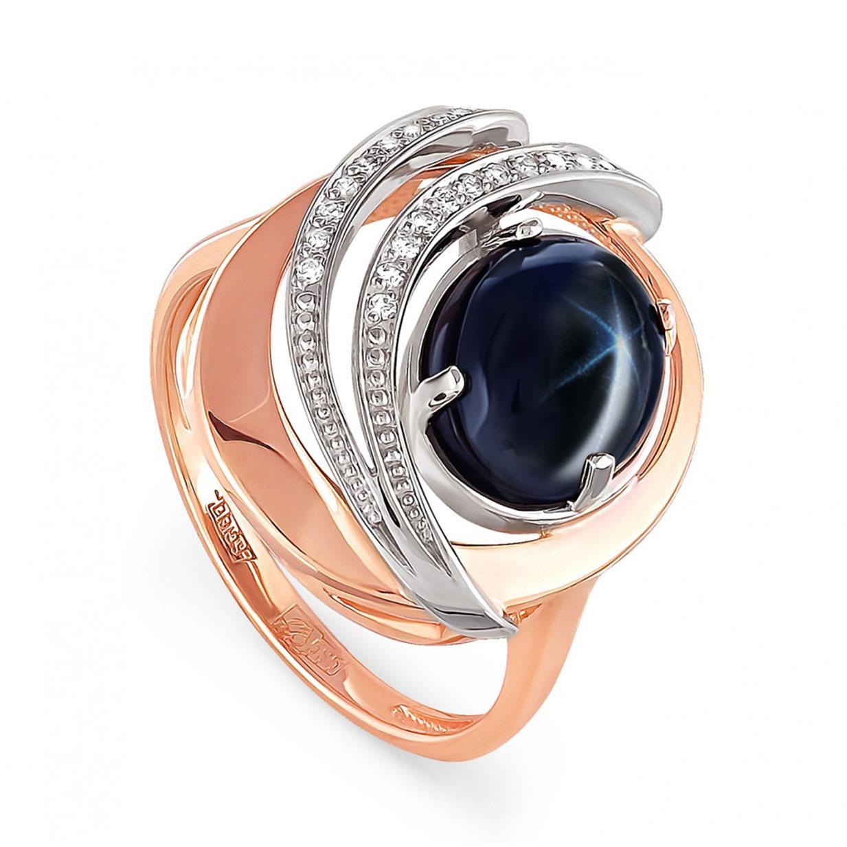 Золотое кольцо Бриллиант и Сапфир арт. 11-0749-1400 11-0749-1400