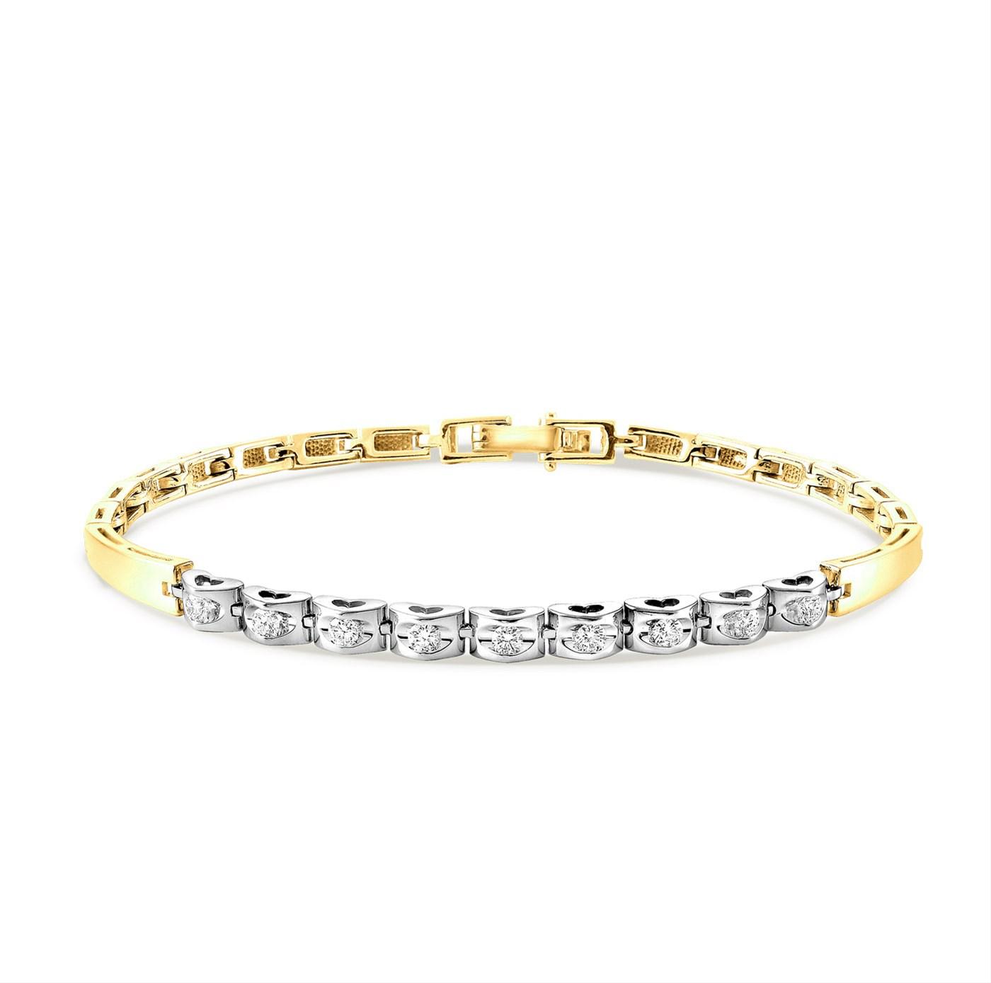Браслет из лимонного золота с бриллиантом арт. 4-2004-1000 4-2004-1000