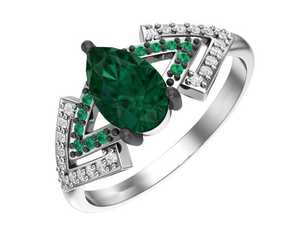 Серебряное кольцо Кварц и Фианит арт. 1100959-04045 1100959-04045