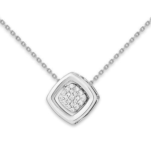 Серебряное колье с фианитом арт. 1610015516-501 1610015516-501