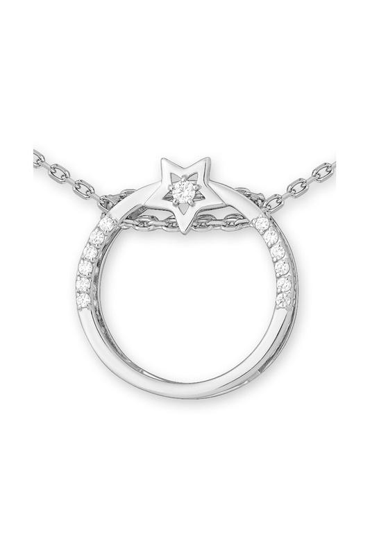 Серебряное колье с фианитом арт. 1310016240-501 1310016240-501