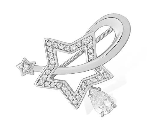 Серебряная брошь с фианитом арт. 1510016517-501 1510016517-501