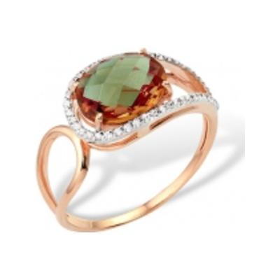 Золотое кольцо Гранат и Фианит арт. 11801318 11801318