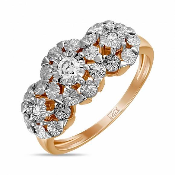 Золотое кольцо Бриллиант арт. r01-pl-33735 r01-pl-33735