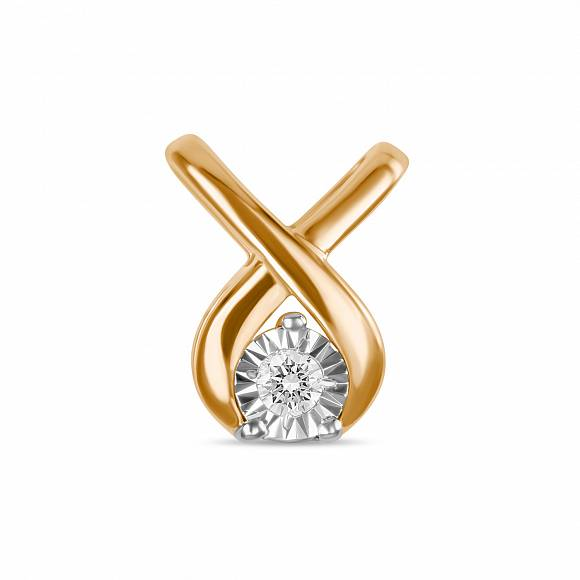 Золотой подвес с бриллиантом арт. p01-pl-33615-r p01-pl-33615-r