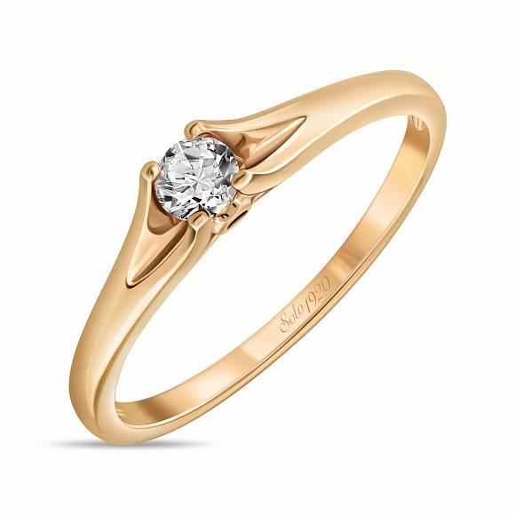 Золотое кольцо Бриллиант арт. r01-sl06-010-g3 r01-sl06-010-g3