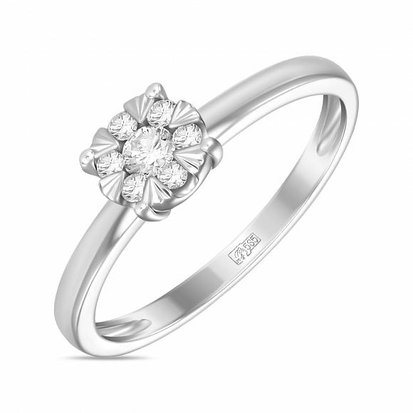 Кольцо из белого золота Бриллиант арт. r2011-1851360ad r2011-1851360ad
