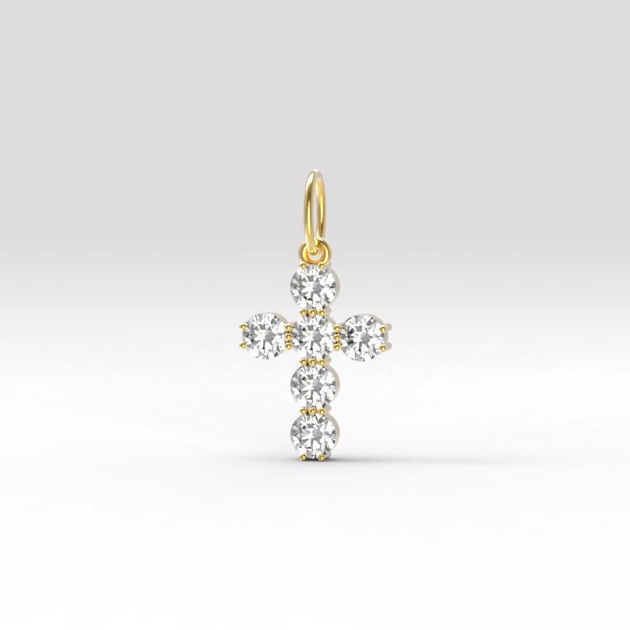 Золотой крест с фианитом арт. п-053 п-053