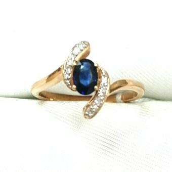 Золотое кольцо Бриллиант и Рубин арт. 770001кр 770001кр