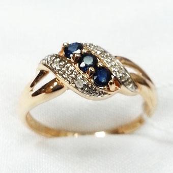 Золотое кольцо Бриллиант и Сапфир арт. 180780/6кс 180780/6кс