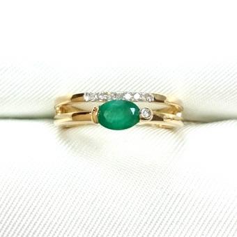 Золотое кольцо Бриллиант и Изумруд арт. 230691/4ки 230691/4ки