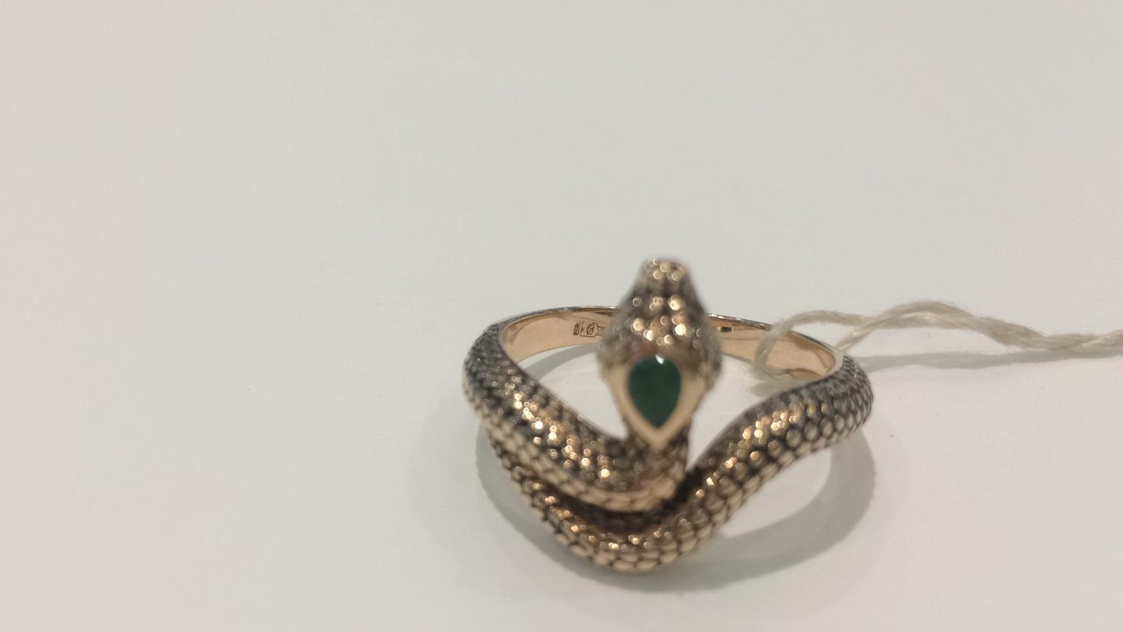 Золотое кольцо Бриллиант и Изумруд арт. 290313ки 290313ки